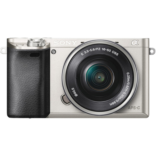Sony Alpha a6000 Mirrorless Camera with 16-50mm Lens (Silver)