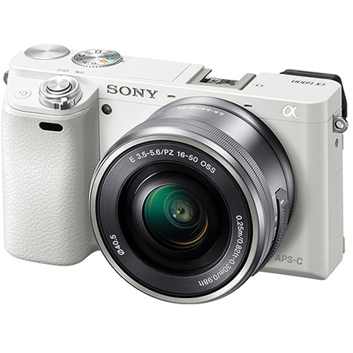 Sony Alpha a6000 Mirrorless Camera with 16-50mm Lens (White)